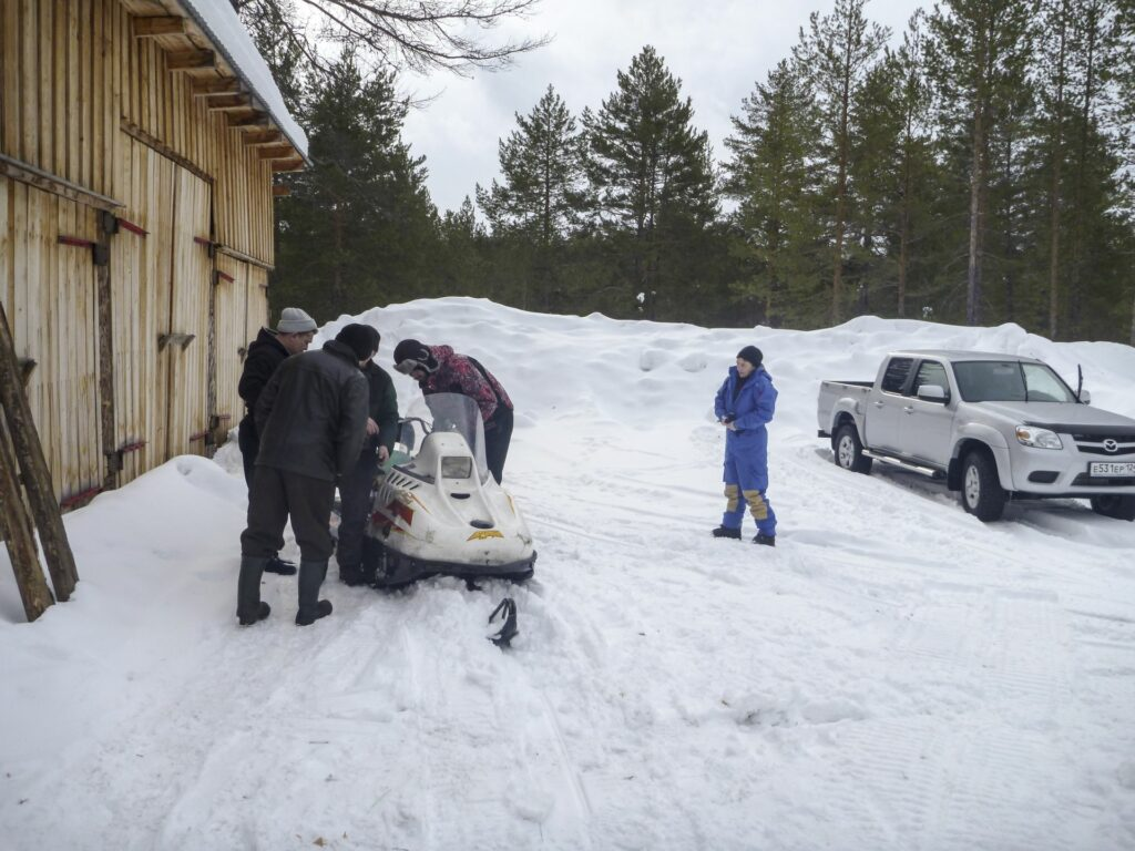 Snowmobile at Zotto station