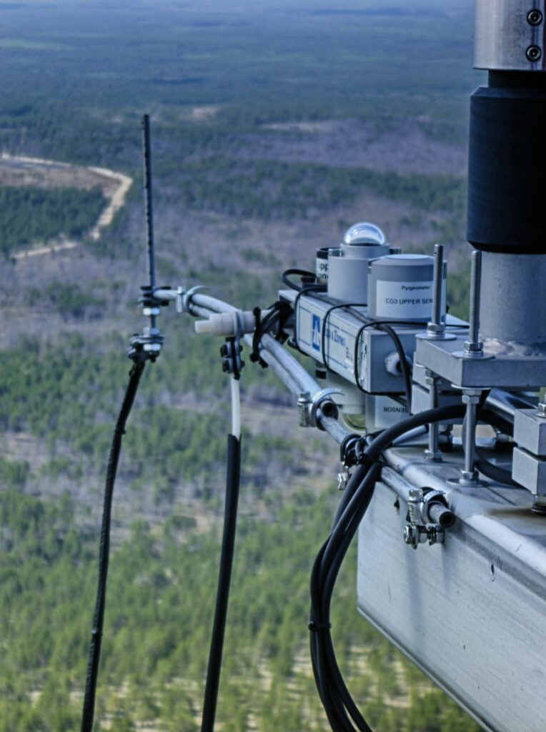 gigantic view into the distance with radiation measurement system on top