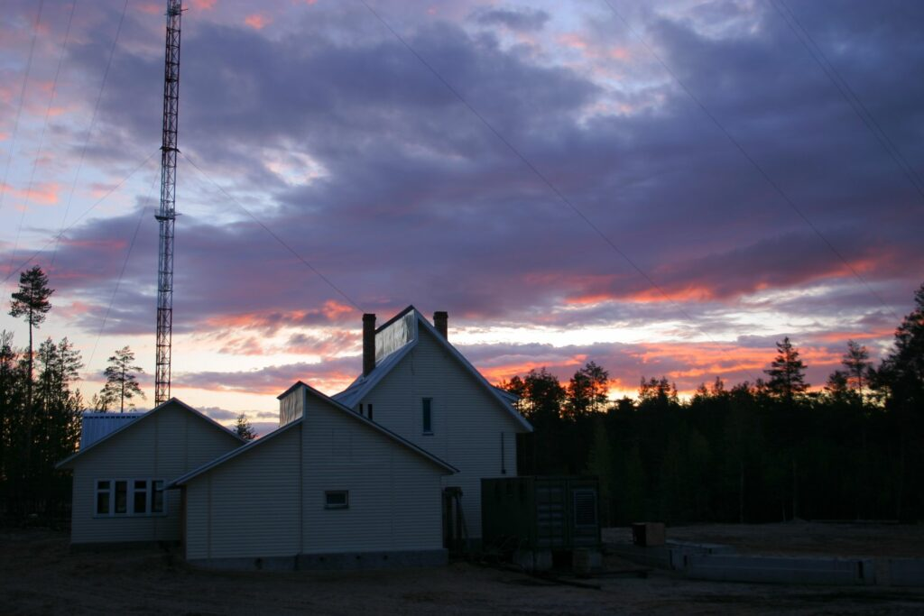pink and lila sunlit clouds behind ZOTTO facility