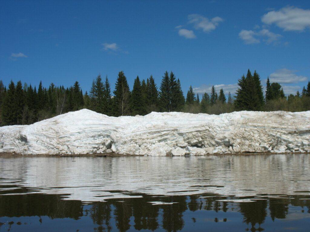 Ice on the river Yenisei