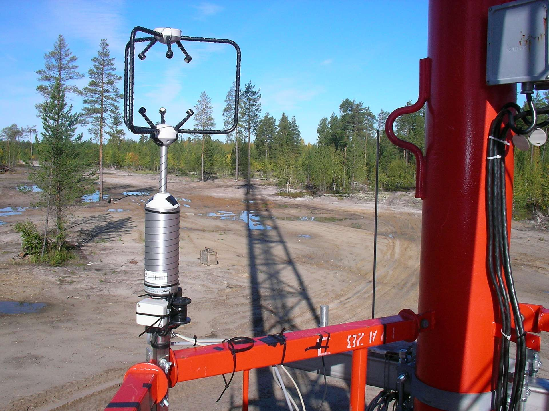 3D anemometer on lowest level of Zotto tall tower